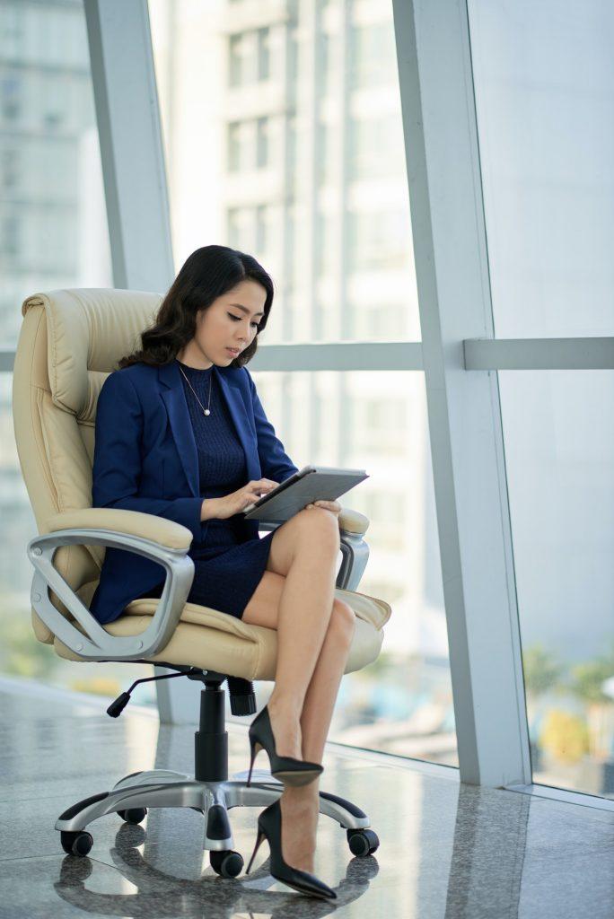 Asian Entrepreneur at Modern Office